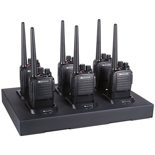 Midland MB400X6MC  MB400 6 Pack Two Way Radio Bundle with Multi-Unit Charging Tray