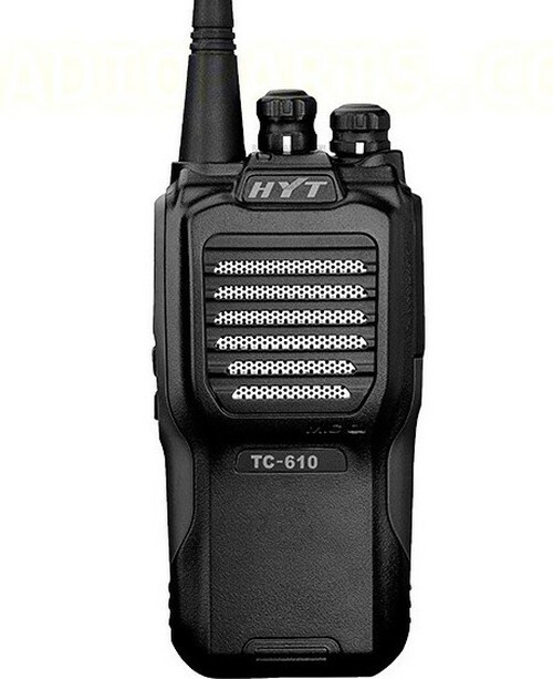Hytera TC-610 5 Watt 16 Channel Two Way Radio with Black Grip