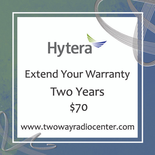 Extend your Hytera Two Way Radio Warranty for 2 Years