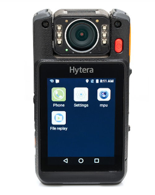 Hytera VM780 16 Gigabyte Body Camera with Push To Talk Radio