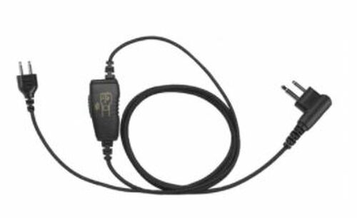 Wired Fox Touch Free Headset for Kenwood Two Way Radios with Snap Lock Interchangeable Connection