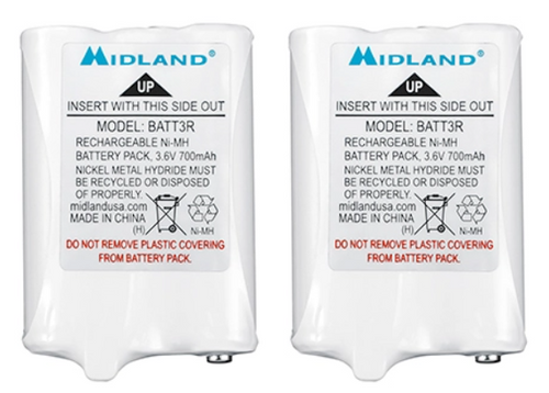Midland AVP14 Metal Hydride Battery Pack for LXT600 series two way radios.