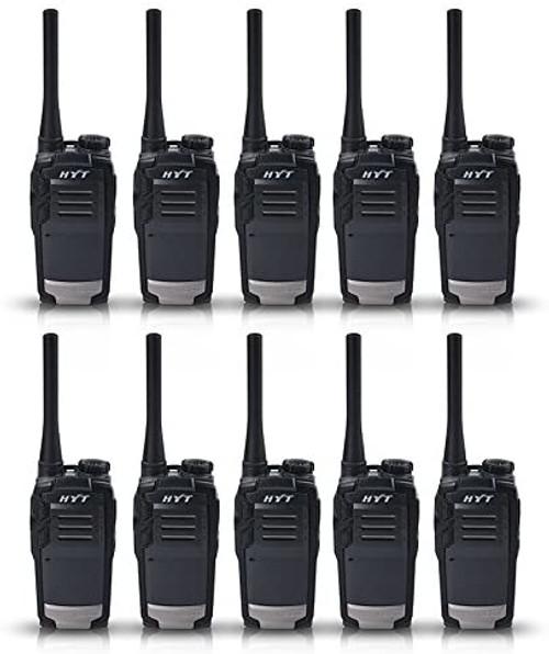 Hytera TC-320 2 Watt 16 Channel UHF Two Way Radio, Pack of 10