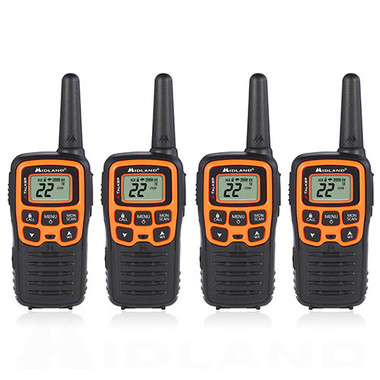 a0c649d06b5 Midland X-Talkier T51VP3 22 Channel FRS Two Way Radio 4 Pack ...