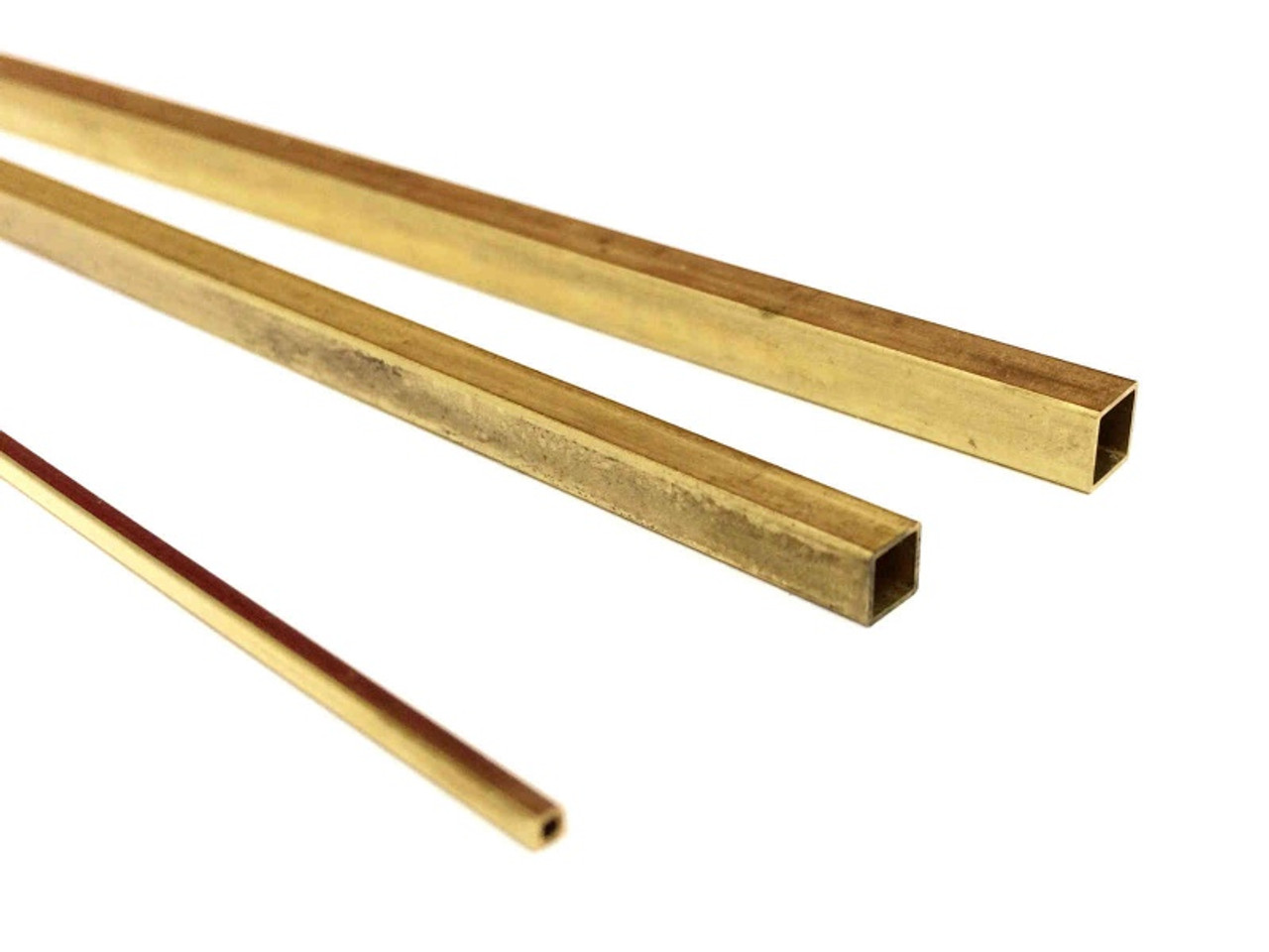 Square Brass Tube 7-32 Inch OD
