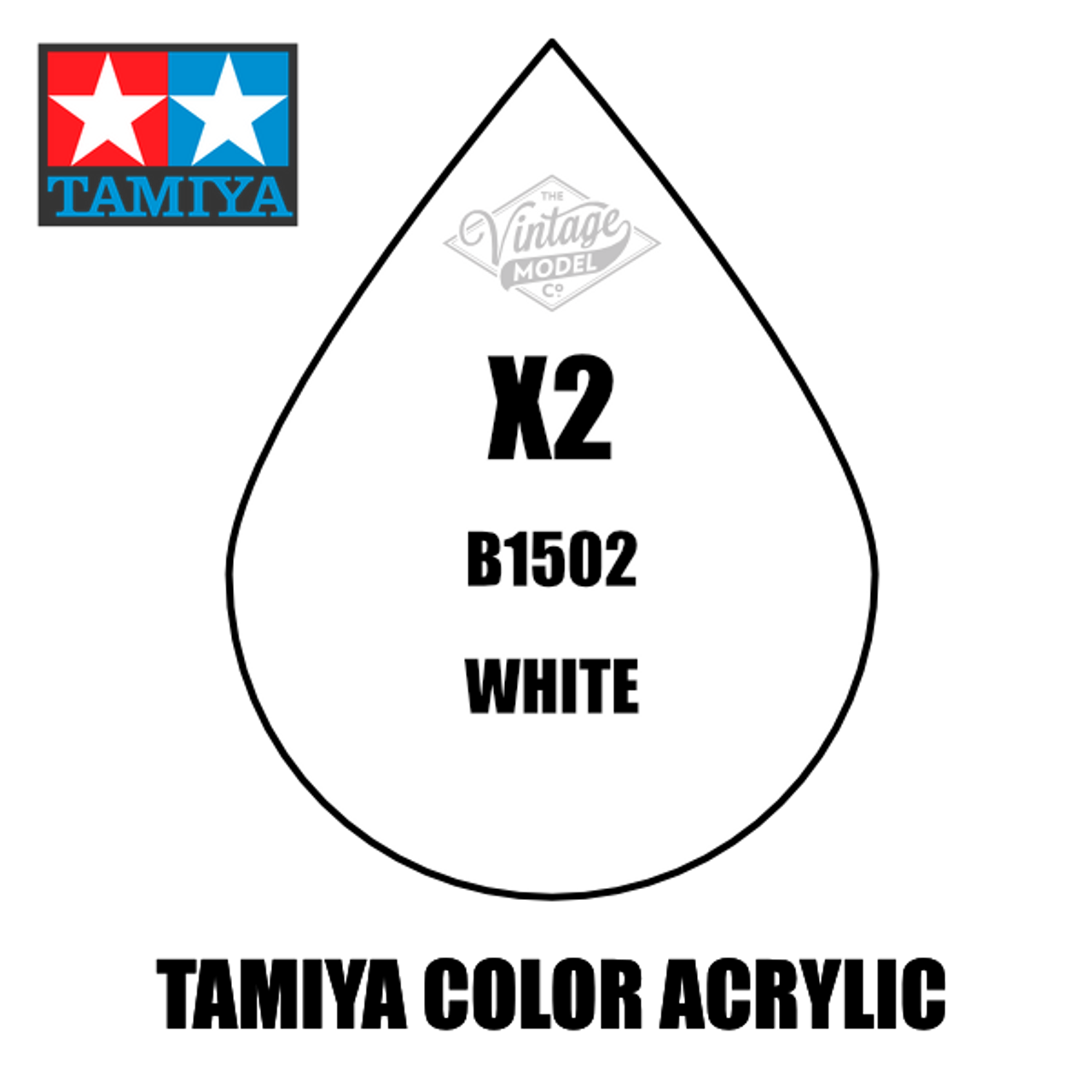 Tamiya Mini X-02 Gloss White 10ml Acrylic Paint