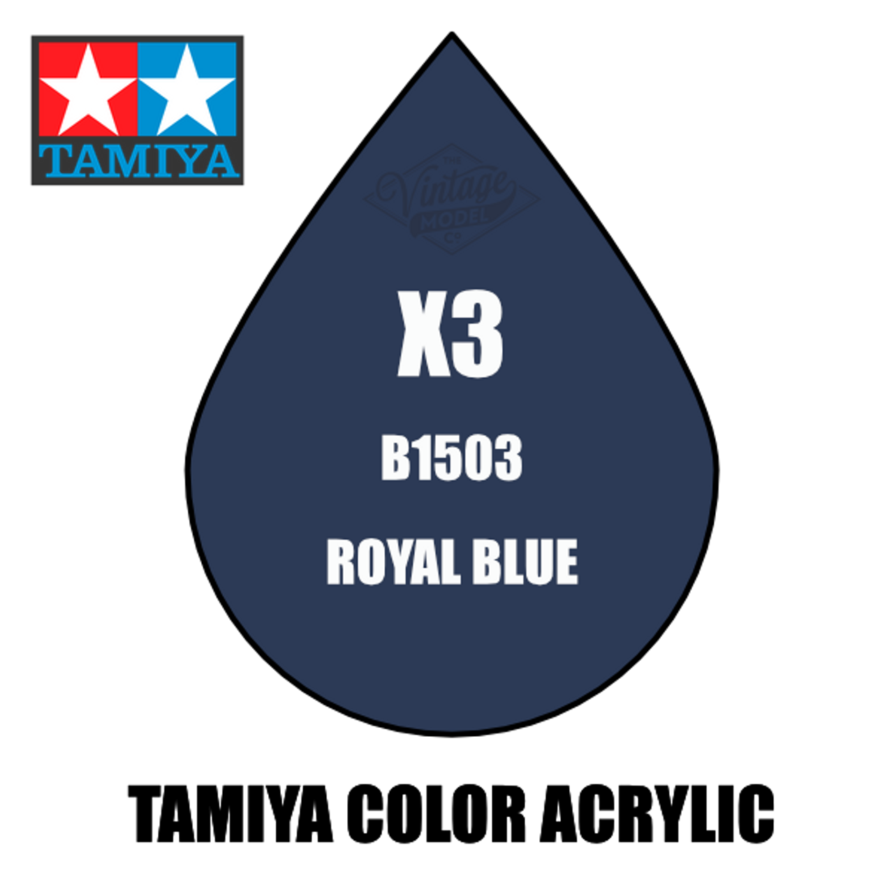 Tamiya Mini X-03 Gloss Royal Blue 10ml Acrylic Paint