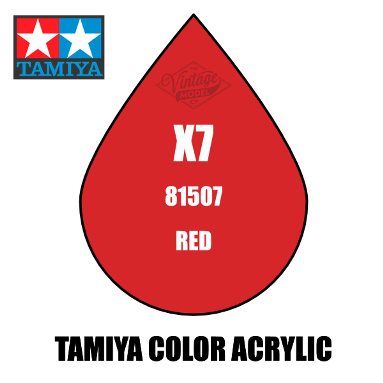 Tamiya Mini X-07 Gloss Red 10ml Acrylic Paint