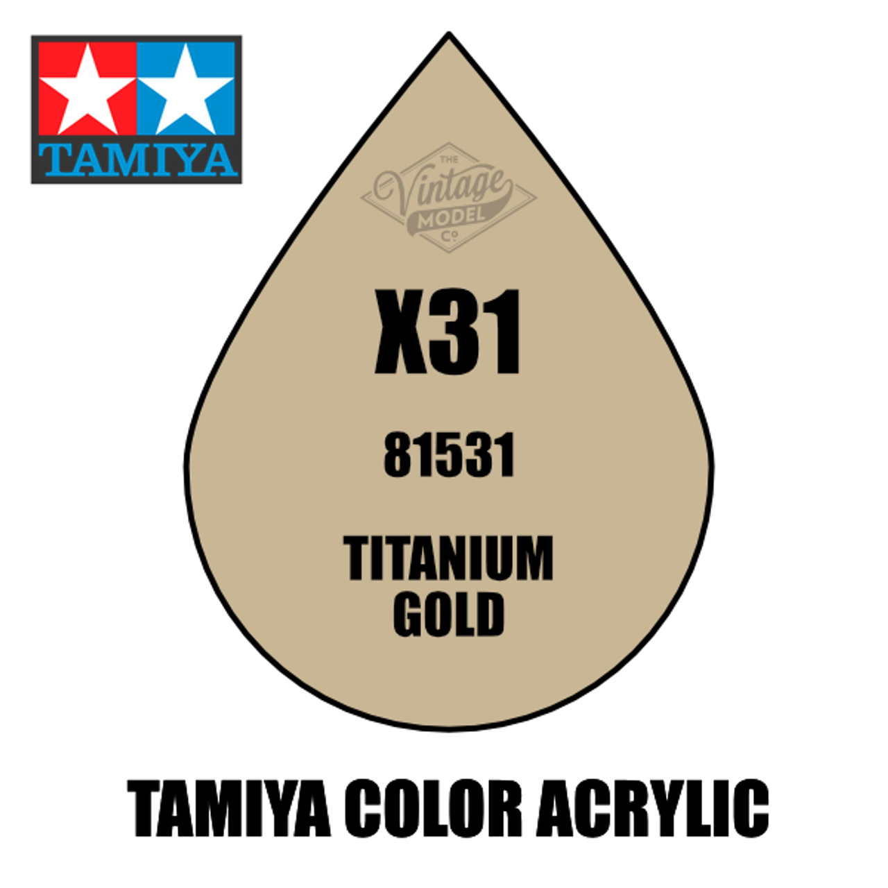 Tamiya Mini X-31 Metallic Gloss Titan Gold 10ml Acrylic Paint