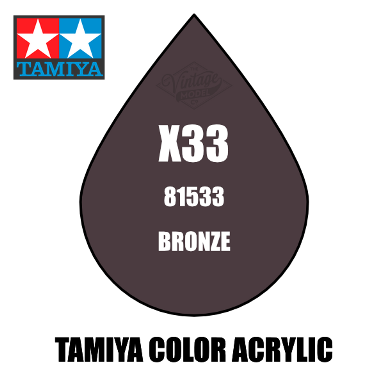 Tamiya Mini X-33 Metallic Gloss Bronze 10ml Acrylic Paint