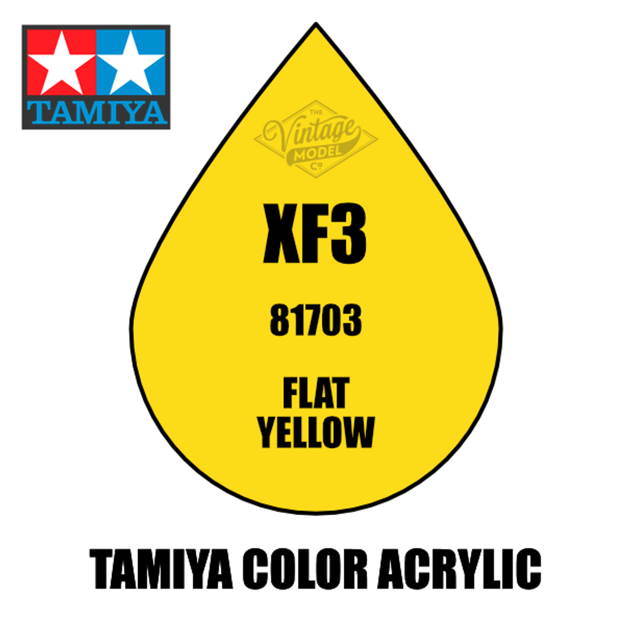 Tamiya Mini XF-03 Flat Yellow 10ml Acrylic Paint