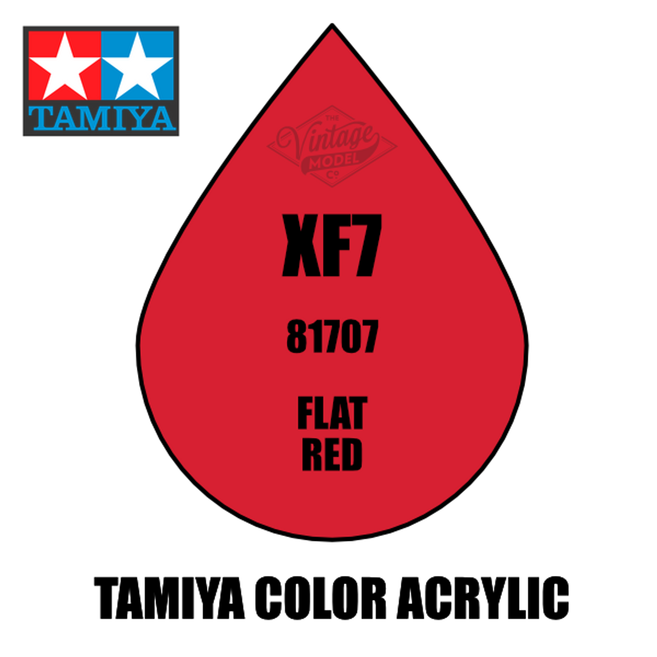 Tamiya Mini XF-07 Flat Red 10ml Acrylic Paint