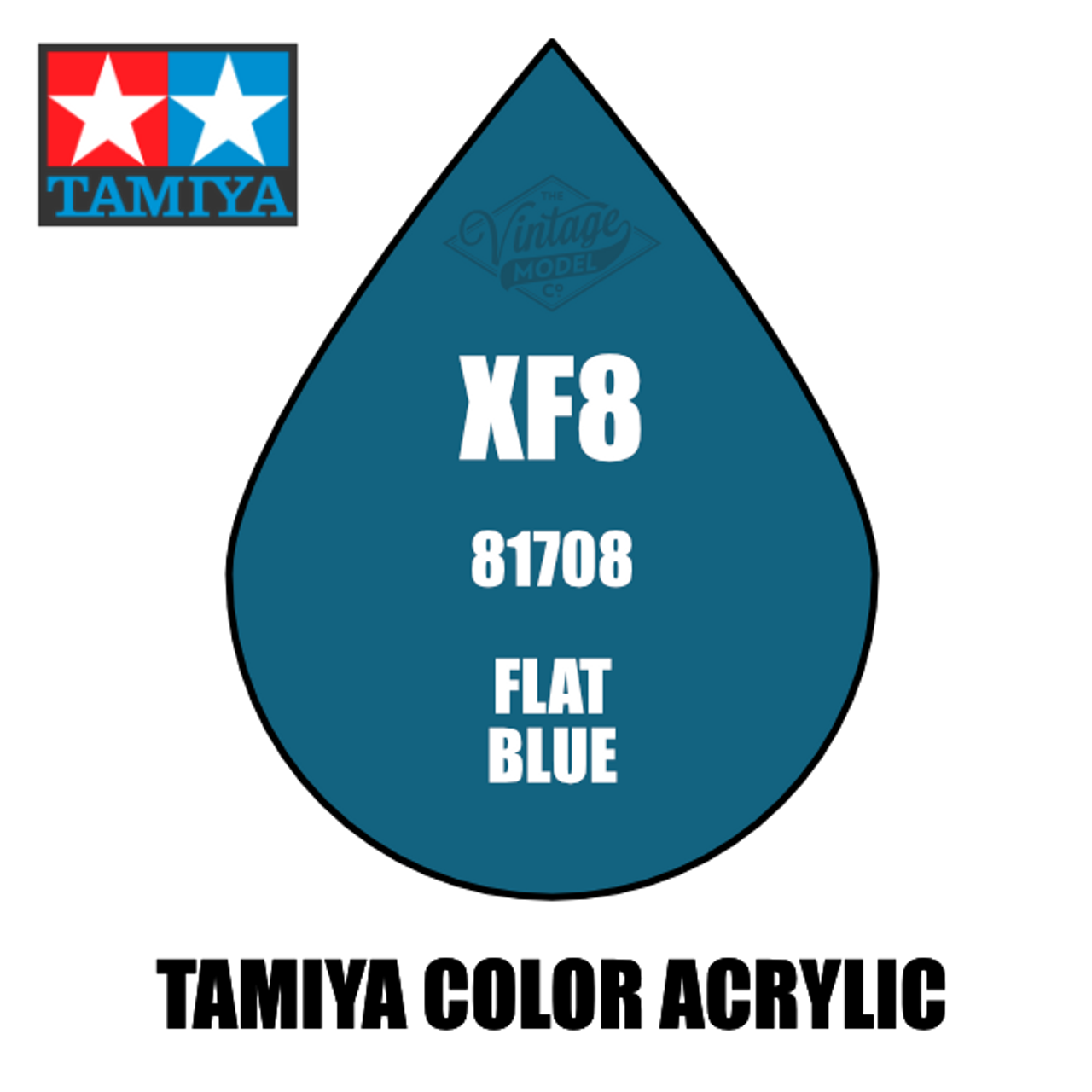 Tamiya Mini XF-08 Flat Blue 10ml Acrylic Paint