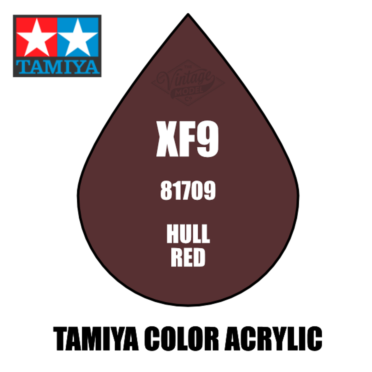 Tamiya Mini XF-09 Flat Hull Red 10ml Acrylic Paint