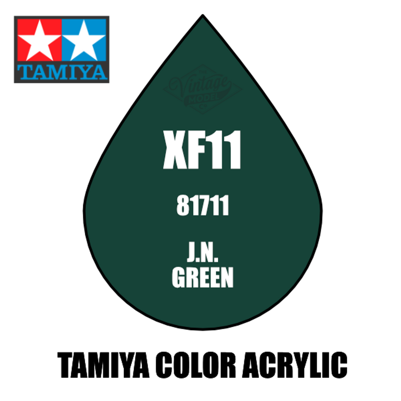 Tamiya Mini XF-11 Flat JN Green 10ml Acrylic Paint