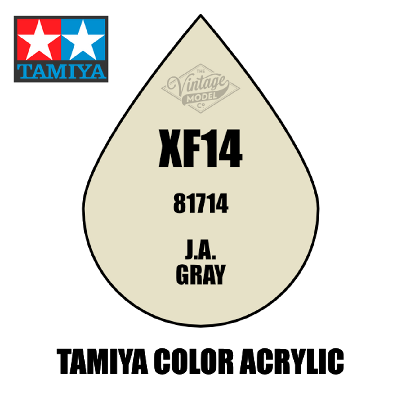 Tamiya Mini XF-14 Flat JA Grey 10ml Acrylic Paint