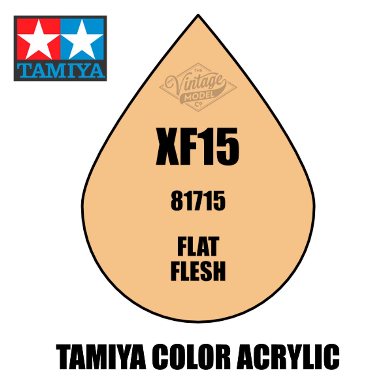 Tamiya Mini XF-15 Flat Flesh 10ml Acrylic Paint