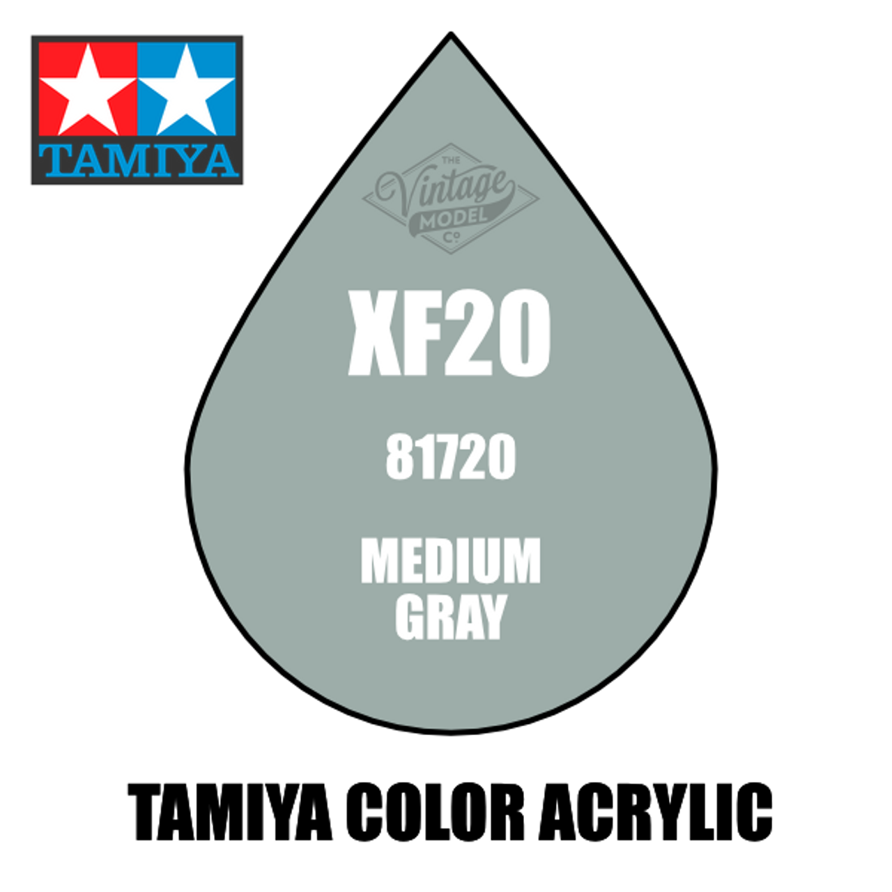 Tamiya Mini XF-20 Flat Medium Grey 10ml Acrylic Paint