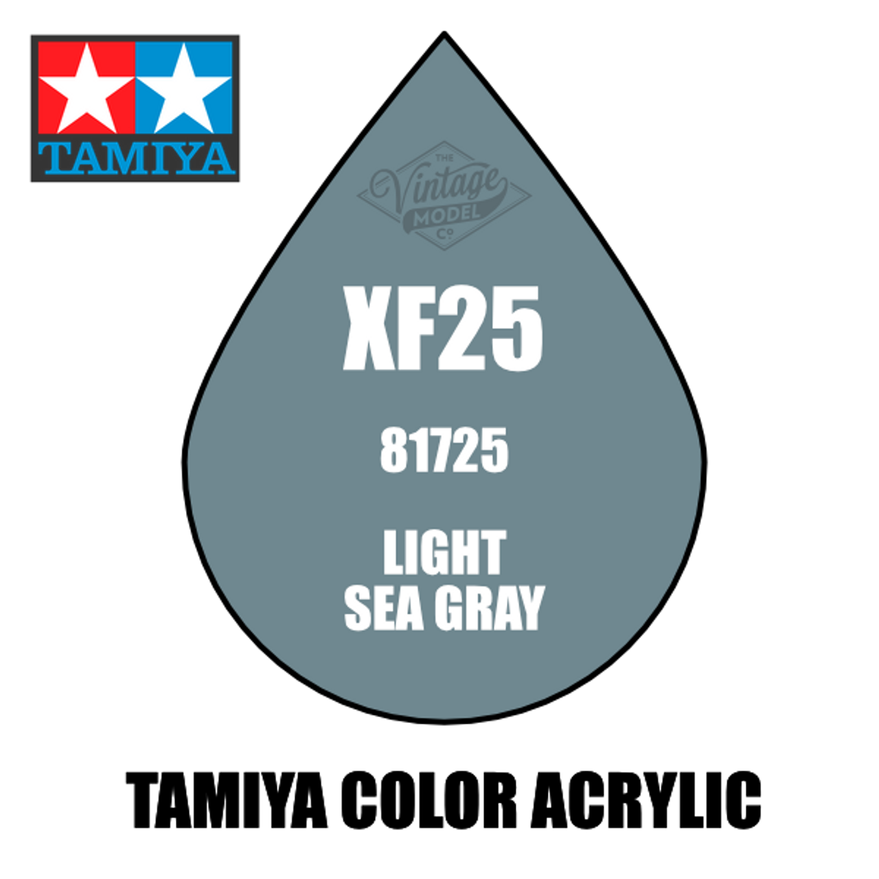 Tamiya Mini XF-25 Flat Light Sea Grey 10ml Acrylic Paint