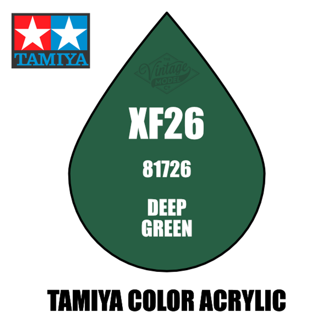 Tamiya Mini XF-26 Flat Deep Green 10ml Acrylic Paint