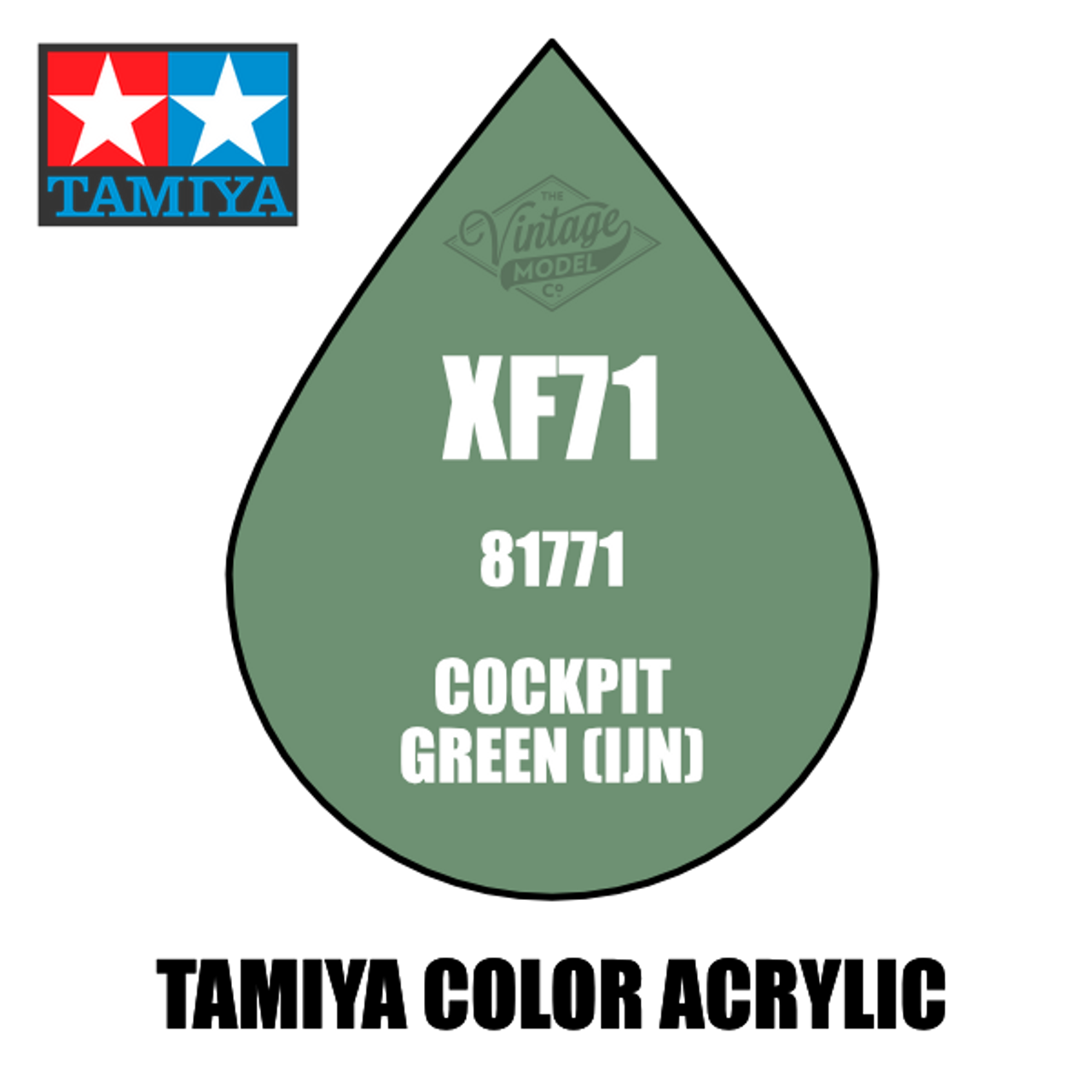 Tamiya Mini XF-71 Flat Cockpit Green 10ml Acrylic Paint