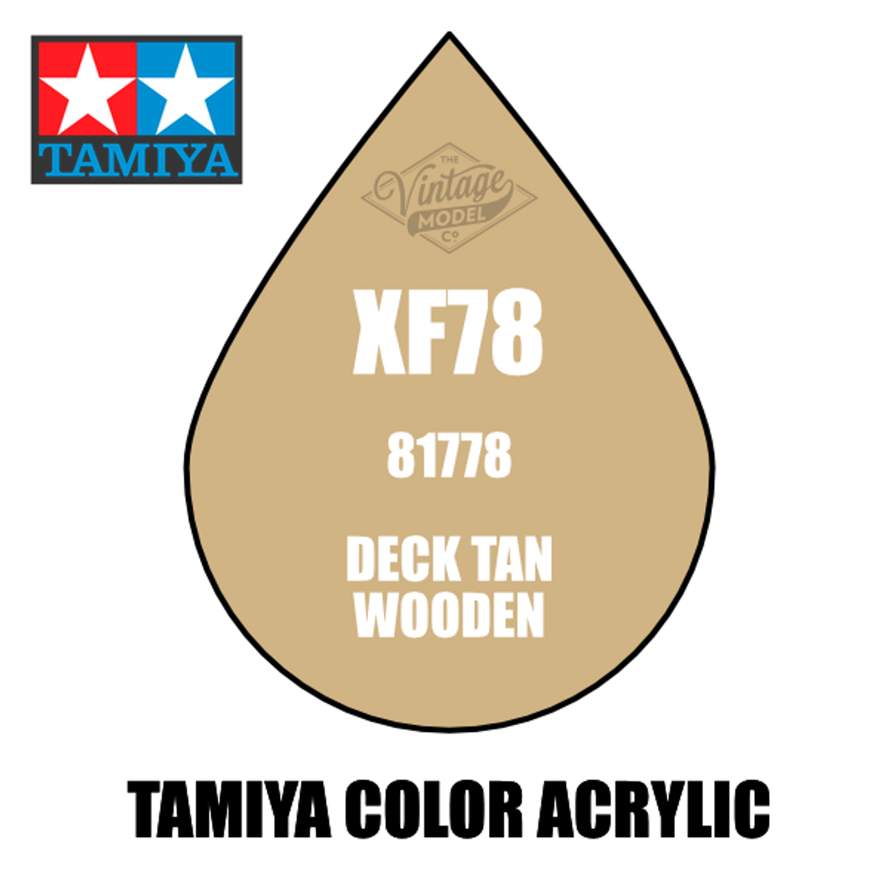 Tamiya Mini XF-78 Flat Wooden Deck Tan 10ml Acrylic Paint