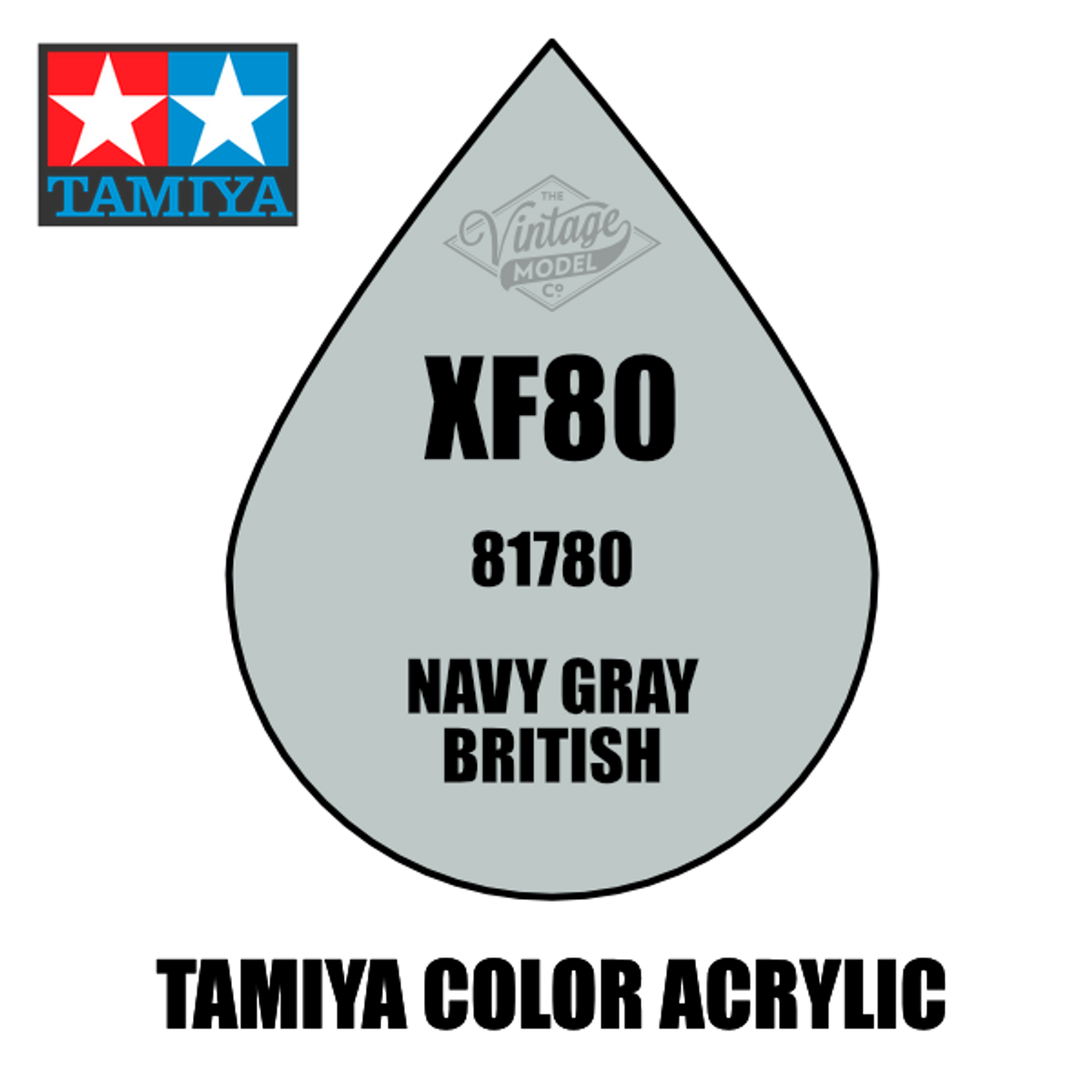 Tamiya Mini XF-80 Flat Royal Light Grey 10ml Acrylic Paint
