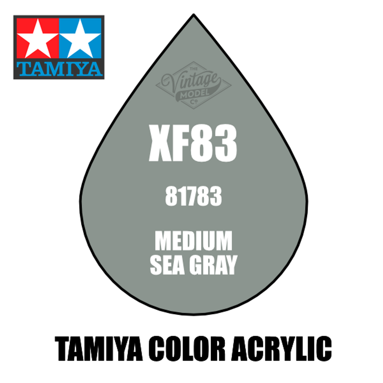 Tamiya Mini XF-83 Flat RAF Medium Sea Grey 10ml Acrylic Paint