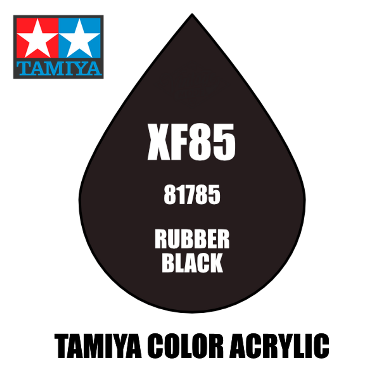 Tamiya Mini XF-85 Flat Rubber Black 10ml Acrylic Paint