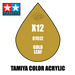 Tamiya Mini X-12 Gold Leaf 10ml Acrylic Paint