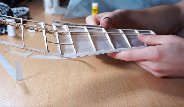 How To Cover a Model Plane with Tissue
