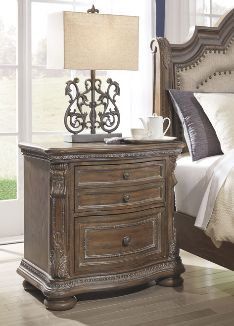 Charmond Brown Two Drawer Night Stand