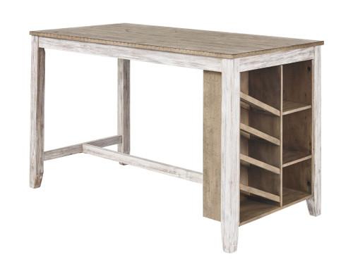Skempton White/Light Brown Rectangular Counter Table w/Storage