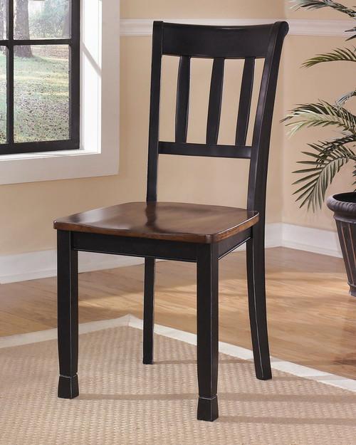 Owingsville Black/Brown Dining Room Side Chair (Set of 2)