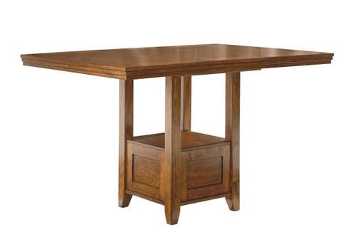 Ralene Medium Brown Rectangular Counter Extension Table