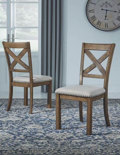 Moriville Beige Dining Upholstered Side Chair (Set of 2)