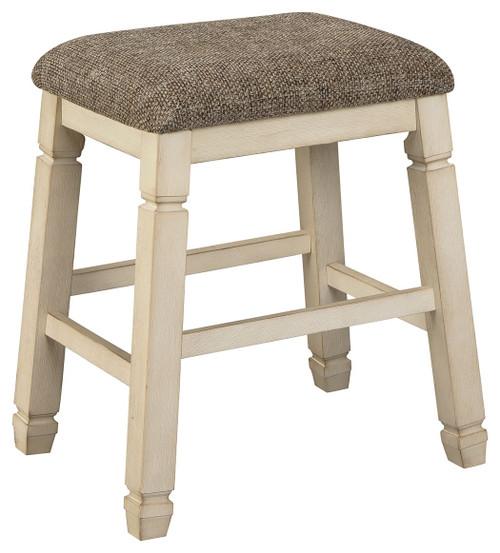 Bolanburg White / Brown / Beige Upholstered Stool (Set of 2)