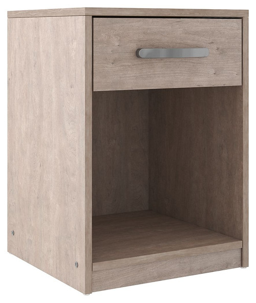 Flannia Gray One Drawer Night Stand