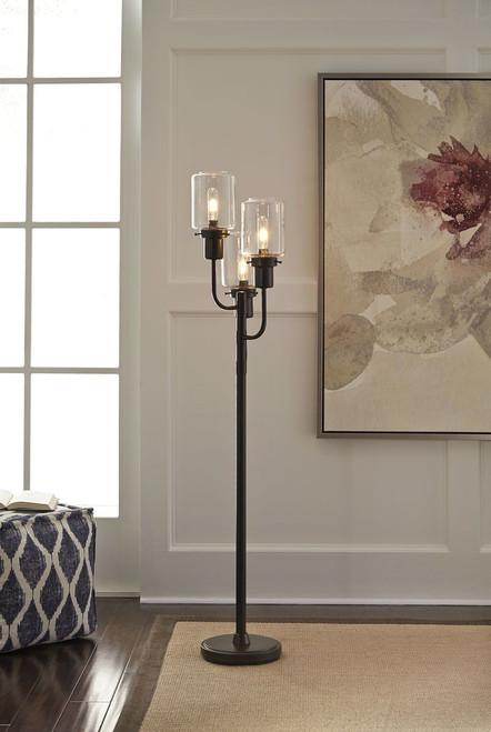 Jaak Bronze Finish Metal Floor Lamp (1/CN)