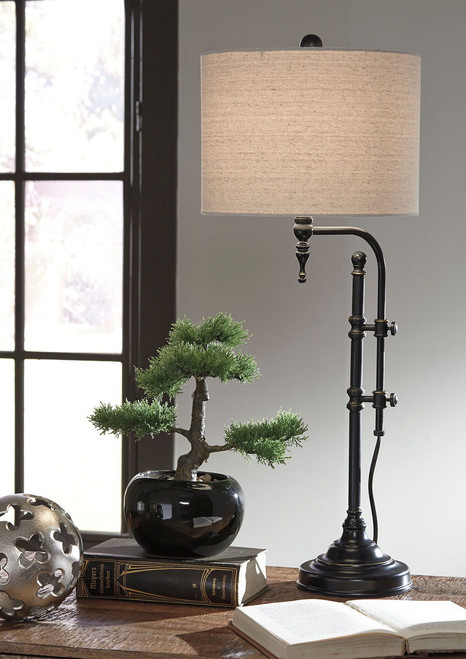 Anemoon Black Metal Table Lamp (1/CN)