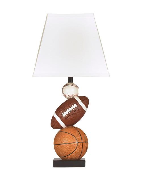 Nyx Brown/Orange Poly Table Lamp (1/CN)