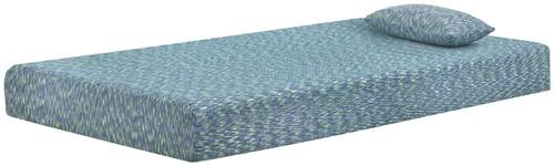 iKidz Blue Blue Twin Mattress and Pillow 2/CN