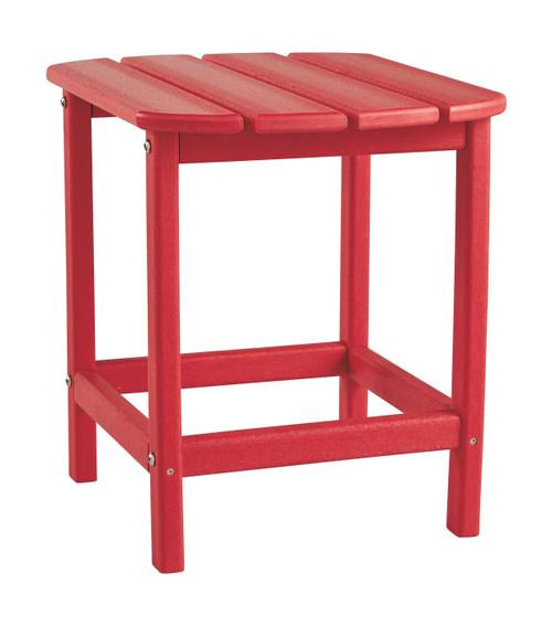Sundown Treasure Red Rectangular End Table