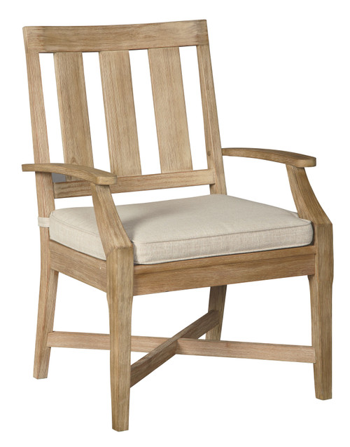 Clare View Beige Arm Chair With Cushion (2/CN)