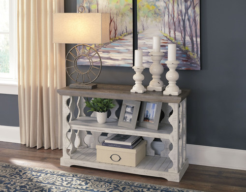 Havalance Gray/White Console Sofa Table
