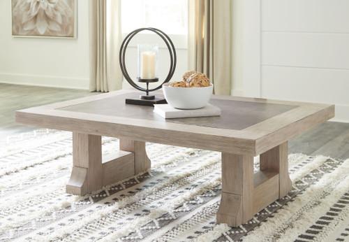 Hennington Light Brown Rectangular Cocktail Table