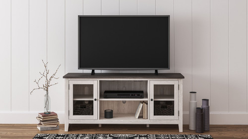 Dorrinson Two-tone LG TV Stand w/Fireplace Option