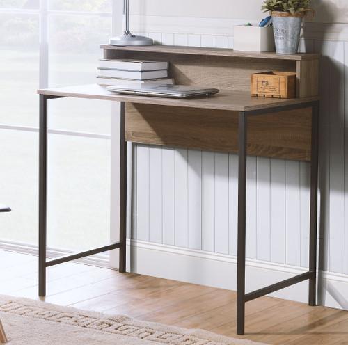 Titania Grayish Brown Home Office Small Desk