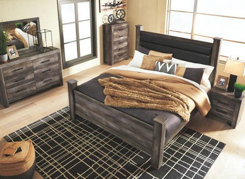 Wynnlow Gray 6 Pc. Dresser, Mirror & King Poster Bed
