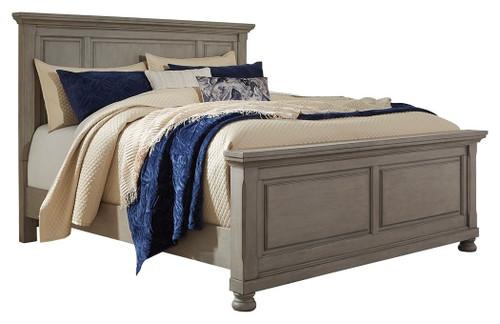 Lettner Light Gray California King Panel Bed